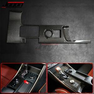 For Lexus IS250 300 350 13-19 Carbon Fiber Central Console Gear Shift Panel Trim