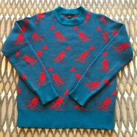J Crew Wool Ski Sweater All Over Print Preppy Sz Sm