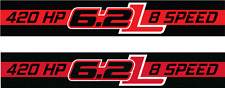 420 HP 6.2L 8 SPEED DECAL EMBLEM CHEVROLET SILVERADO 1500 2014 2015 2016 2017