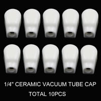 "10PCS VACUUM TUBE ANODE 1/4"" 6.3mm Ceramic VALVE PLATE CAP for  EL519,EL504,EL37"