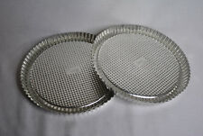 """Set of 2 Pampered Chef 10"""" Flan / Tart Pans - EXCELLENT CONDITION"""