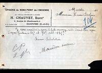 """ESSONNES (91) EPICERIE  """"CHATELAIN & JANIER / H. CHAUVET Succ"""" en 1931"""