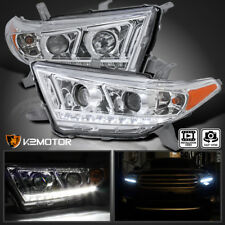 For 2011-2013 Toyota Highlander LED Projector Headlights Head Lamps L+R