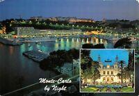 Monaco Postcard, Monte Carlo by Night, Harbour, Boats AX8