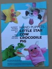 Sewing patterns , 4 Nursery Rhymes Puppets , felt Crafts - booklet