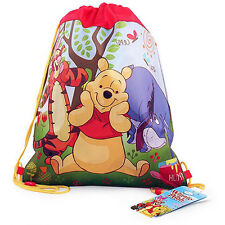 6pc DISNEY Winnie the Pooh Kids Sling Bag Tote Backpack BIRTHDAY PARTY FAVORS