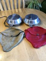 Two (2) Vintage (BSA) Boy Scouts Of America Metal Mess Kits,Cooking Set Dish Pot