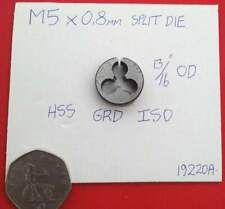 """M5 x 0.8mm Metric split die 13/16"""" OD"""