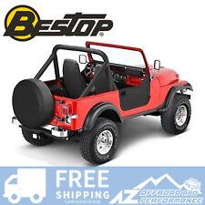 Bestop Soft Half Doors - Black Crush fits 80-95 Jeep CJ7 / Wrangler YJ 53038-01