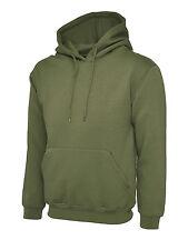 """Uneek Uc508 Olympic Hooded Sweatshirt Unisex Womens Mens Hoodie Jumper Sweater 3xl 50"""" - 52"""" Military Green"""