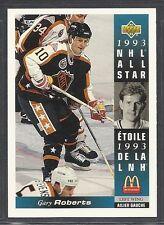 1993-94 Upper Deck McDonald's NHL All Stars - #11 - Gary Roberts - Flames