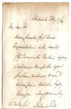Sir Robert Peel -PM's son - 1869 letter:thanks for congrats on Tamworth election