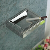 Stainless Steel304 Wall Mounted Cigarette Smoking Ashtray Top Square Pocket