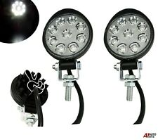 Set Of 2 Waterproof 27w 9 Led Spot Round Mini Work Lights Lamp Offroad Tractor