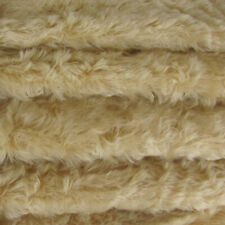 "1/6 yd 785S/C Old Ivory INTERCAL 3/4"" Medium Density Curly German Mohair Fabric"