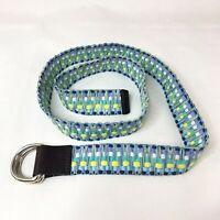 Eddie Bauer Pastel Fabric Woven Belt Women's Size L/XL