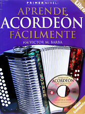 METHODE D'ACCORDEON DIATONIQUE AVEC CD PAR VICTOR M. BARBA (EN ESPAGNOL)