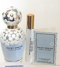 DAISY DREAM MARC JACOBS TRAVEL ATOMIZER SPRAY PERFUME EDT .33OZ 10ML + SAMPLE