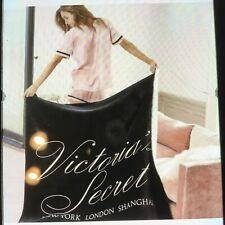 Victoria Secret Sherpa Blanket- Black Super Soft - New limited edition