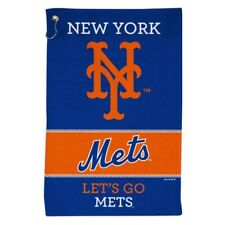 """NEW YORK METS ALL PURPOSE GOLF TAILGATE TOWEL 16""""X25"""" HOOK AND GROMMET"""