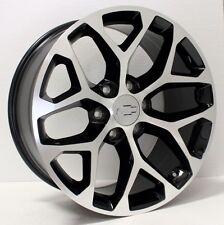 New 22 Inch Chevy Silverado Tahoe LTZ Black and Machined Snowflake Wheels Rims