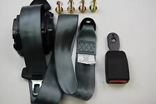 GREY, Universal 3 Point Inertia Seat Belt, E9 Rated.(SHORT BUCKLE) ECER16