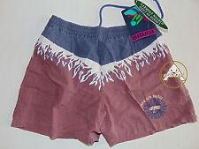 Vintage 90 BRUGI Boxer S Shorts Costume Beach Pantaloncini Viola NOS 80 OS