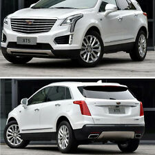 2x Stainless Front+Rear Bumper Protector Guard Trim For Cadillac XT5 2016-2017
