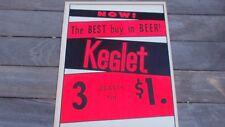 Vintage Beer Sign Keglet Advertisement Cardboard Philadelphia 11 X 14 Inches