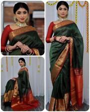 Banarasi silk saree Ethnic Indian Pakistani wedding Designer Party wear Sari