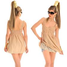 Vestiti da donna tunica di cotone beige
