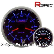52 mm PROSPORT Premium Blu/Bianco motore passo-passo analogico Time Clock GAUGE 12 V