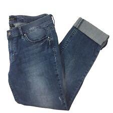 White House Black Market Womens 8 Noir Ankle Jeans Denim Pants Rhinestone WHBM