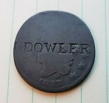 COUNTERSTAMP 1827 ONE CENT COIN ''J DOWLER'' COUNTER STAMP