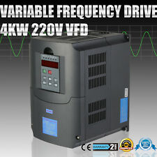 CNC VARIABLE FREQUENCY DRIVE INVERTER VFD 4KW 220-250V MOTOR SPEE 3 PHASE OUTPUT