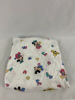 Vintage Disney Dundee Mickey Minnie Pluto Puzzle Pieces Baby Crib Fitted Sheet