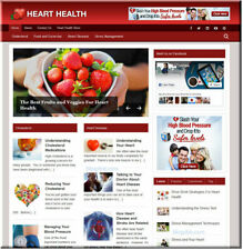 Heart Health Wordpress Website with Builtin Amazon Store