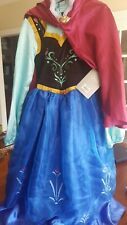 NWT DISNEY STORE AUTHENTIC DELUXE FROZEN PRINCESS ANNA COSTUME DRESS GIRLS 7/8