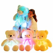 LARGE COLORFULL TEDDY BEAR VALENTINES DAY CREATIVE LIGHT UP LED 30cm SIZE GIFT
