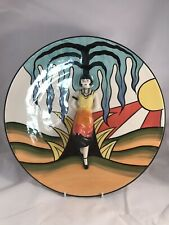 Lorna Bailey Pottery Limited Edition Charger Art Deco Lady