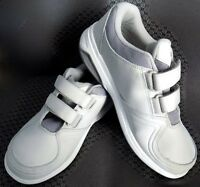 New Balance Womens Walking Shoes WW813WT White / Silver Hook and Loop Size 8
