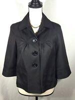 Women's Gap Button Front Blazer Jacket Suit ,Black Pea coat Size Small NWOT