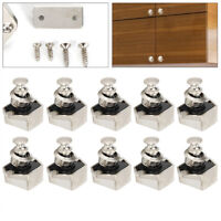 10x Push Button Cupboard Catch Lock Latch for Trailer RV Boat Cabinet Door