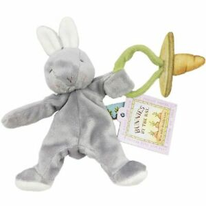 Bunnies By The Bay Wee Silly Buddy Soother Holder Bunny - Grey