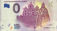 BILLET 0 ZERO EURO SOUVENIR TOURISTIQUE SAINTES MARIE DE LA MER 2019-1