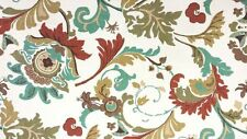 """100% Cotton Upholstery Fabric By The Yard 54"""" W Campione Green By Richloom"""