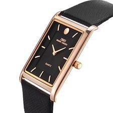 IBSO Men Watches 7MM Ultra-thin Rectangle Dial Watch Classic Quartz Wristwatch