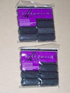 2 Vintage hollywood Professional Quality Hair Large Foam Rollers Curler Lot Set