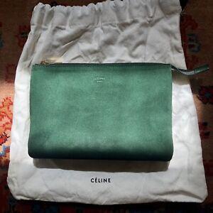 Celine Trio Suede Clutch Tasche Bag NP350€