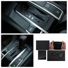 Carbon fiber look interior Gear panel Moulding cover Sticker for Honda Civic 16